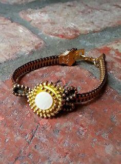 Zipper Rose Bracelet $30.00 This would make a cute watch band