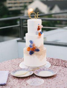 La Tavola Fine Linen Rental: New York Blush   Photography: John Newsome Photography, Venue: Balboa Park, Florals: L&S Design Co, Cake: Hey There, Cupcake!, Furniture: Raise The Bar Productions Rentals: Abbey Party Rentals