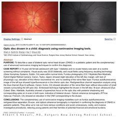 Optic nerve head drusen