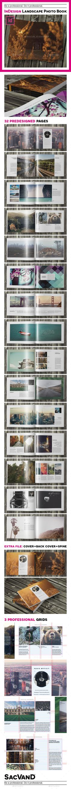 Indesign landscape photo book template Template #design #print Download: http://graphicriver.net/item/indesign-landscape-photo-book-template/9121284?ref=ksioks