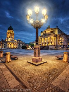 The Gendarmenmarkt at Night, Berlin Germany