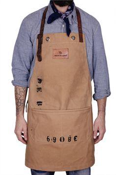 Atelier de l'Armée - Apron made from 1960s Royal Dutch Navy duffel bag.