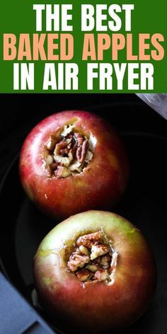 Air fryer cinnamon bakes apples Try this soft and sweet cinnamon air fryer baked apples for your next dessert! Impress your guests and family with this easy to make recipe, only few ingredients and oh so healthy and delicious! Air Fryer Recipes Appetizers, Air Fryer Oven Recipes, Air Frier Recipes, Air Fryer Dinner Recipes, Easy Healthy Dinners, Healthy Chicken Recipes, Healthy Dinner Recipes, Dessert Recipes, Desserts