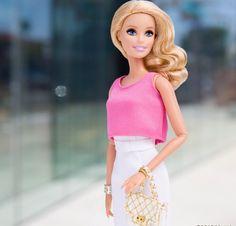 Barbie dressed in Pink.