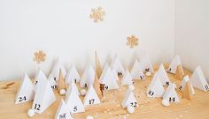 Roundup: 15 Scandinavian-Inspired DIY Advent Calendars to Get You in the Holiday Spirit Make An Advent Calendar, Stencil, Advent Calenders, Christmas Fairy, Christmas Holiday, Christmas Countdown, Christmas Inspiration, Christmas Projects, Diy For Kids