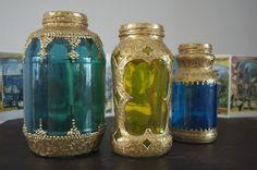 Morrocan Lanterns from Spaghetti Jars