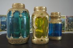"""I have been wanting to create a """"Morrocan"""" ambiance on my back (covered) porch - rugs, lanterns, low tables, ottomans - but have been unable to even THINK about lanterns - too pricey.  I am now going to eat pasta for a month so I can populate my space with these clever, gorgeous recycled lanterns!  Thanks Matsutake for the tutorial on Craft blog!!! :)"""