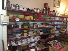 Antique Booth Ideas, Pyrex, Liquor Cabinet, Antiques, Storage, Furniture, Vintage, Home Decor, Antiquities