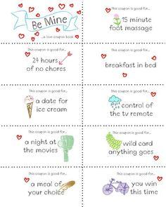 Last Minute Valentine Free Coupon Book Printable