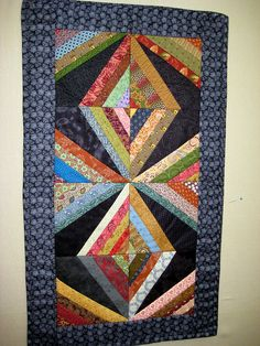 String Quilt Table Runner by sew bee it, via Flickr