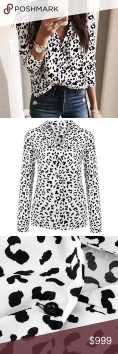 79eecfcd0c Animal Print Pajama Shirt L XL On trend black in white animal