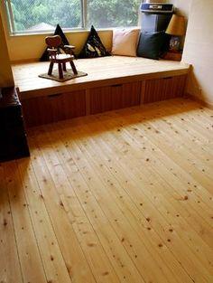 リノベーション ベンチ - Google 検索 Small Space Interior Design, Home Interior Design, Interior Decorating, Japanese Bedroom, Japanese Interior, Living Room Nook, Tatami Room, Platform Bedroom, Simple House