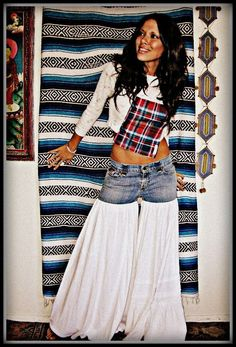 CUSTOM Made to Order LOVE Hippie Vintage Bell Bottom Bloomer Denim Jeans Pants. $83.99, via Etsy.: