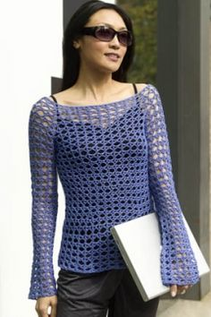 Paris Crochet Tunic - free pattern.