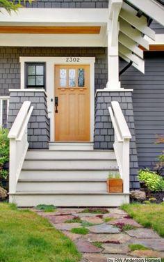 Craftsman style entry door