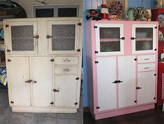 vintage leadlight kitchen dresser | interiors | pinterest