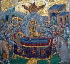 The Koimetesis - Dormition de la Vierge. Chora church in Constantinople/Istanbul