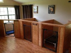 Gatlinburg Dog Boarding | Love this idea in a spare or mud room instead of crates