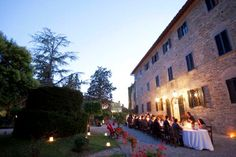 TUSCANY - Castelvecchi, a medieval hilltop castle and cottages in CHIANTI, between Siena and Florence, a great location for a wedding in Italy