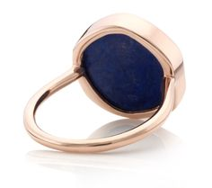 Rose Gold Vermeil Atlantis Gem Ring - Lapis - Monica Vinader