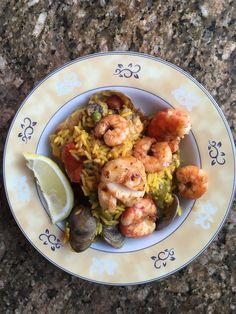 paella Secret Recipe, Paella, Cauliflower, Shrimp, Meat, Vegetables, Recipes, Food, Cauliflowers