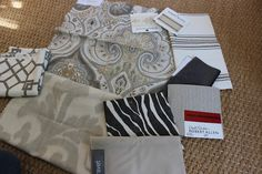 Fabrics via the very talented Sherry at design indulgence