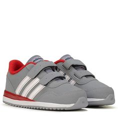 adidas Neo V Jog Sneaker Toddler Grey/Red