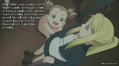 fullmetal headcanon | Fullmetal Headcanon, While Winry was staying with the Hughes family ...
