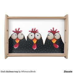 Cool chickens tray serving trays