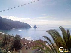 Saint Gordios is one of the most popular sandy beaches of Corfu. Its name derives from the homonym church of Saint Gordiou, that is built on the s. Agios Gordios, Corfu Beaches, Photo Wall Collage, Sandy Beaches, Greece, Saints, Water, Outdoor, Santos