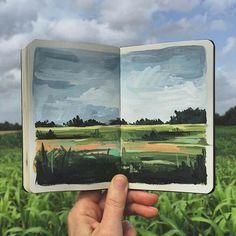 New Travel Book Design Travelers Notebook Ideas Sketchbook Inspiration, Art Sketchbook, Painting Inspiration, Art Inspo, Journal Inspiration, Journal Ideas, Design Inspiration, Gouache Painting, Painting & Drawing