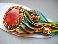 Shibori Bead Embroidery Bracelet Cuff - Shibori TUTORIAL @ https://www.etsy.com/listing/175270652/shibori-tutorial-instructions-only?ref=shop_home_active_1
