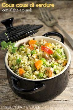 Cous cous di verdure con alghe e pinoli