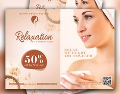 Get this beautiful flyer design for your Spa & beauty salon business. This professional business flyer is perfect for a Spa & beauty salon. Beauty Spa, Beauty Make Up, Beauty Care, Natural Beauty, Spa Design, Flyer Design, Spa Logo, Marketing Flyers, Salon Business