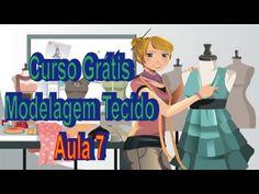 AULA 7 - Curso Modelagem Tecido GRÁTIS - YouTube Tandoori Masala, Modelista, Sewing Class, Sewing Hacks, Couture, Sewing Patterns, Chiffon, Family Guy, Singer