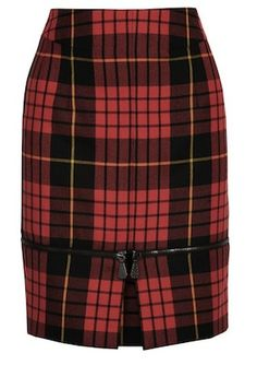 McQ Alexander McQueen Zipped-Hem Tartan Wool Skirt | The House of Beccaria
