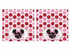 Minnie Mouse Birthday Favor Bag Toppers by SweetBeeDesignShoppe