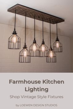 Farmhouse Kitchen Light Fixtures, Industrial Farmhouse Kitchen, Farmhouse Dining Room Lighting, Farmhouse Kitchen Lighting, Farmhouse Kitchen Island, Rustic Light Fixtures, Kitchen Lighting Fixtures, Modern Farmhouse Kitchens, Lights For Kitchen
