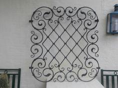 Wrought Iron Wall Art, Iron Wall Decor, Wrought Iron Gates, Iron Garden Gates, Window Bars, House Design Pictures, Window Grill Design, Iron Windows, Iron Furniture