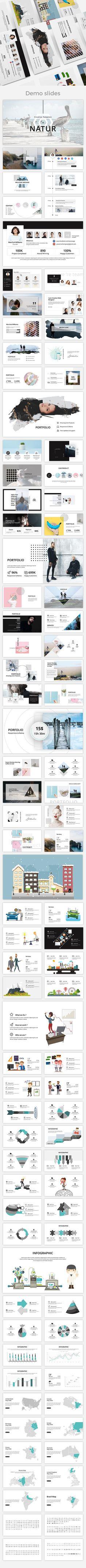 Natur Creative #Powerpoint Template - Creative PowerPoint Templates