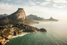 Sunny view of Barra Tijuca and Sao Conrado- Rio de Janeiro