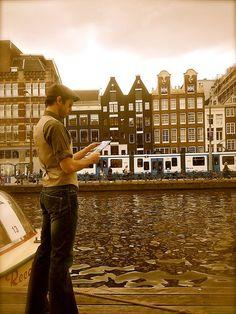 My friend Jeremy Benton in Amsterdam