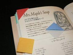 折り紙 〜三角のしおり〜  - えつこのマンマダイアリー