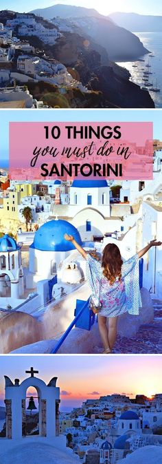 10 Things You Must Do in Santorini! Looking for things to do in Santorini? Greece Vacation, Greece Travel, Greece Trip, Greece Honeymoon, Santorini Travel, Santorini Honeymoon, Honeymoon Trip, Honeymoon Places, Santorini 2017
