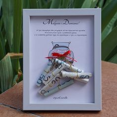 Home Crafts, Diy And Crafts, Wedding Gifts For Couples, Just Married, Couple Gifts, Wedding Cards, Decoupage, Wraps, Presents