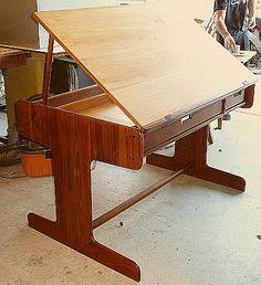 Sam Maloof style Drafting Table
