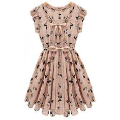 Vestido Estampa Animal Bambi