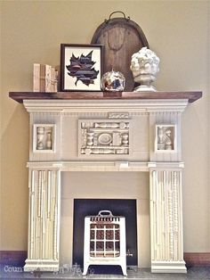 scrap wood mantel