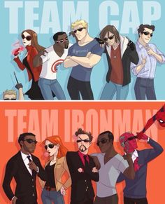 Team Iron Man! Yeah  Cuz you got to be with spidey...like come on people