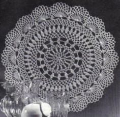 Flowing Fountain Doily